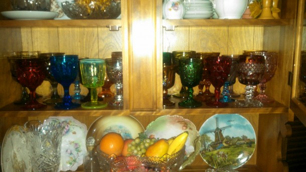My grandma's goblet collection